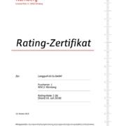 Rating-Zertifikat der Spakasse Nürnberg