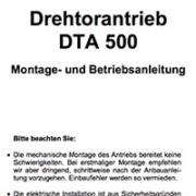 Montage- und Betriebsanleitung Drehtorantrieb DTA500